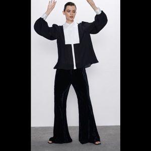 Zara Crushed Velvet Trousers